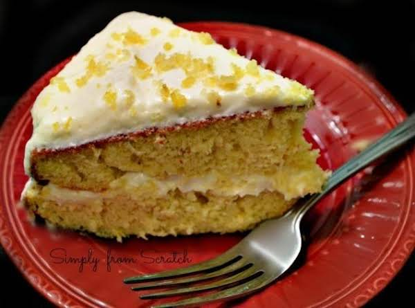 Lemon Cake With Lemon Cream Cheese Frosting Recipe
