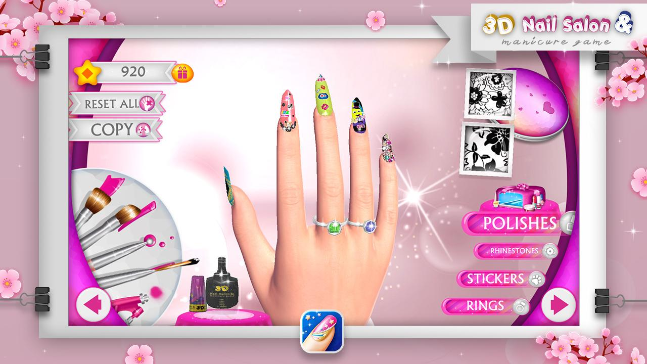 3D Nail Salon & Manicure Game- screenshot