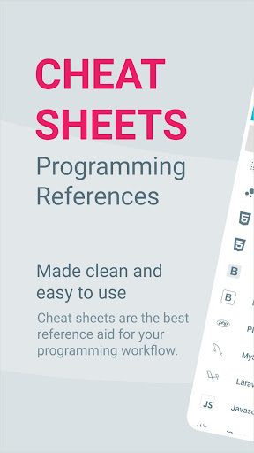 code cheat sheets - programming references screenshot 1