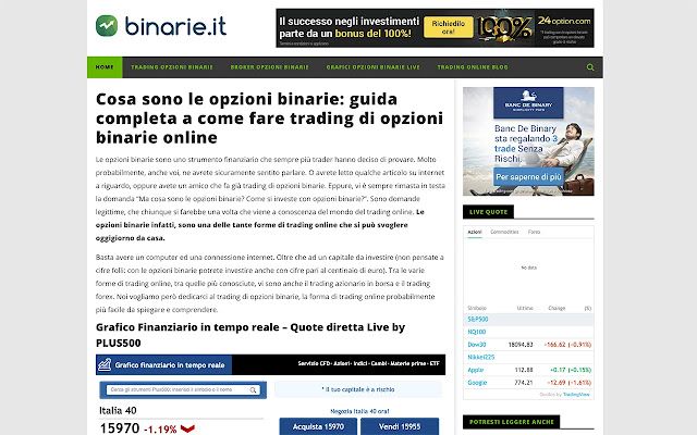 Binarie.it - Opzioni Binarie
