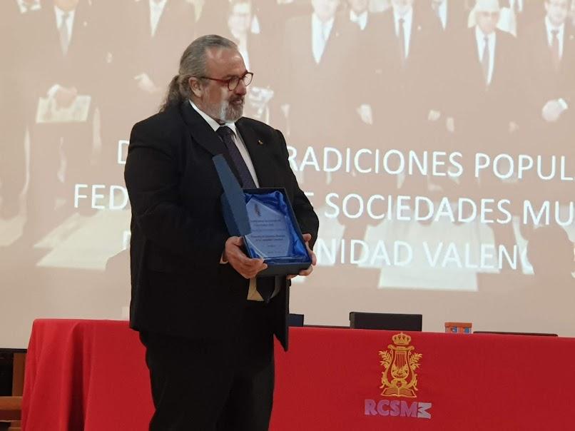 La FSMCV recibe el premio nacional Cultura Viva de Defensa de las Tradiciones Culturales