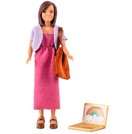 Lundby Mamma med dator & väska