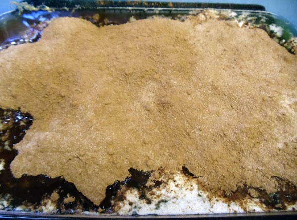 Sprinkle cocoa/sugar mixture on top of batter.  Do not stir.