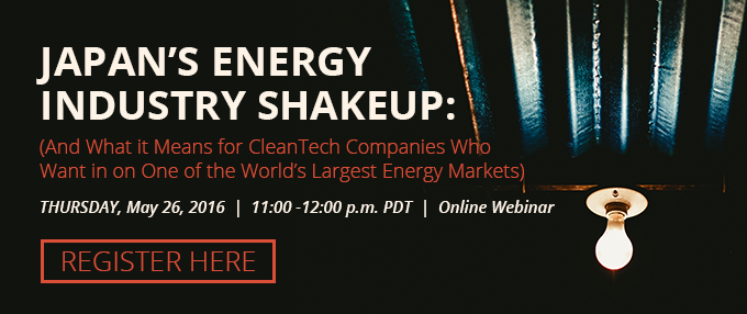 Japan's Energy Industry Shakeup: A Free Online Webinar [REGISTER HERE]