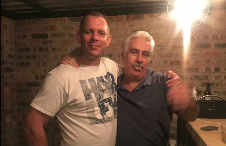 Beyers Serfontein (left) and his uncle Leon Botha, taken a few hours before Serfontein was hit by a taxi.