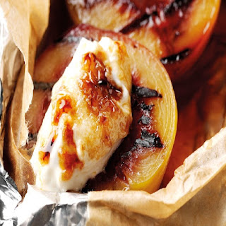 BBQ Rum Baked Peaches with Caramelised Yoghurt