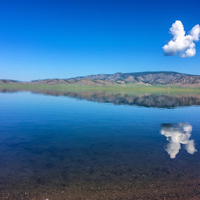 by Эрдэнэцэцэг Баяраа - Landscapes Waterscapes ( reflection, blue sky, waterscape, summer, landscape )
