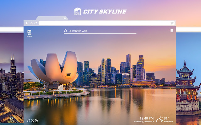 City Skyline HD Wallpapers New Tab Theme