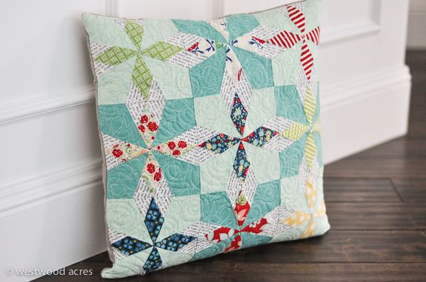 Diamonds in the Sky Quilted Pillow Pattern