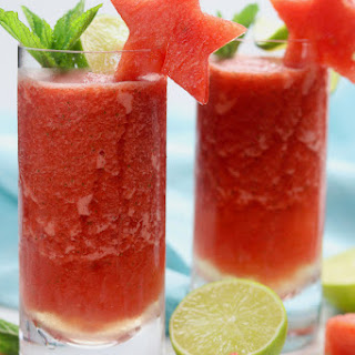 Frozen Watermelon Mojitos.