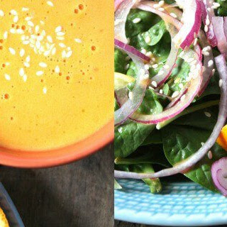 Sumptuous Spinach Salad With Orange-Sesame Dressing