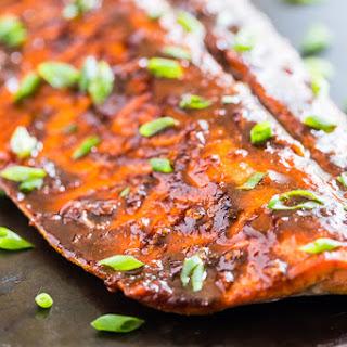 Cajun Honey Glazed Salmon.