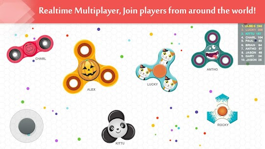 Fidget Spinner .io Game MOD Apk 111.0 (Unlimited Coins) 4