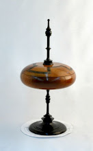 "Photo: Bill Autry - Lidded Box w/Spindle - 7"" x 15"" - Mahogany/Utile"
