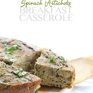 Slow Cooker Spinach Artichoke Breakfast Casserole (Dairy-Free)