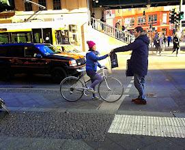 Photo: Was für ein schöner Sonnentag! Beste Gelegenheit, für die Inititive  #sicherradeln zu werben. ;)  #bike   #criticalmass    #fun  #berlin