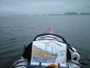 Photo: Approaching the Gordon Islands in Goletas Channel.