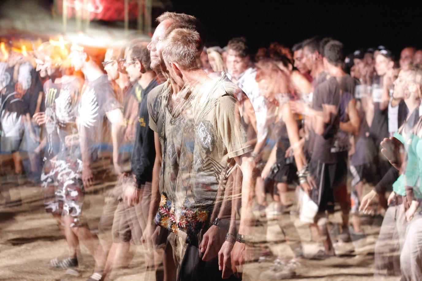 A picture containing person, sport, dancer, crowd  Description automatically generated