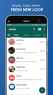 JioChat: HD Video Call Screenshot