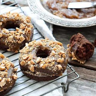 Gluten Free Chocolate Peanut Butter Doughnuts