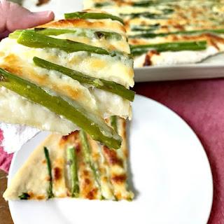 Asparagus Pizza.