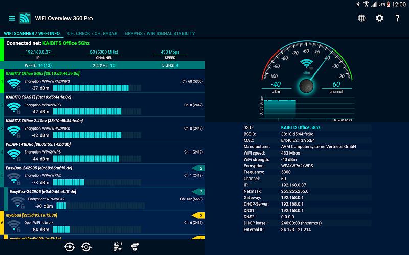 WiFi Overview 360 Pro Screenshot 8
