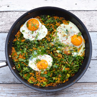 Sweet Potato and Kale Rosti with Baked Eggs Recipe