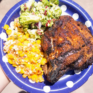 Grilled Curry Rubbed Pork Chops