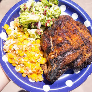 Grilled Curry Rubbed Pork Chops.