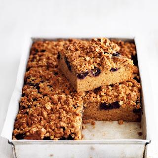 Blueberry Crumble Tray Bake.