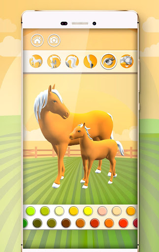Horse Coloring Book 3D image   2