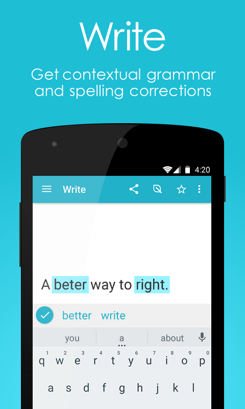 Page: English Grammar & Spell Checker + Translator- screenshot