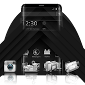 Black and Silver Mobile Theme