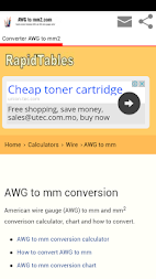 Conversion awg to mm2 apk download convgmm conversion awg to mm2 apk screenshot thumbnail 3 greentooth Choice Image