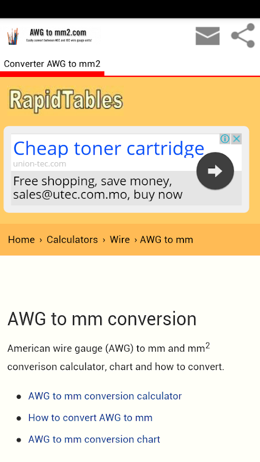 Download conversion awg to mm2 app for android screenshots of conversion awg to mm2 for iphone greentooth Choice Image