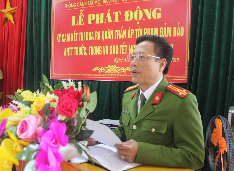 Thượng tá Trần Phúc Thịnh, Trưởng phòng Cảnh sát Môi trường phát động đợt thi đua