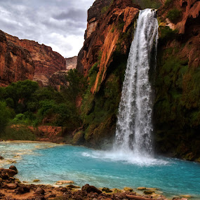 Havasu Pai Falls by Sean Markus - Landscapes Waterscapes (  )