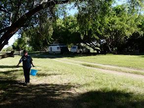 Photo: Geen water naby ons staanplek nie