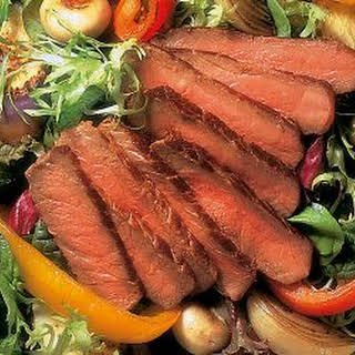 Filet Mignon with Roasted Vegetable Salad.