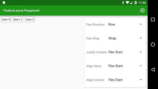 FlexboxLayout Playground screenshot 0