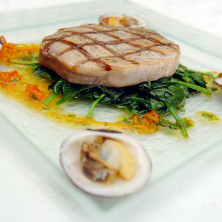 Tuna & Clams with Cilantro Dressing
