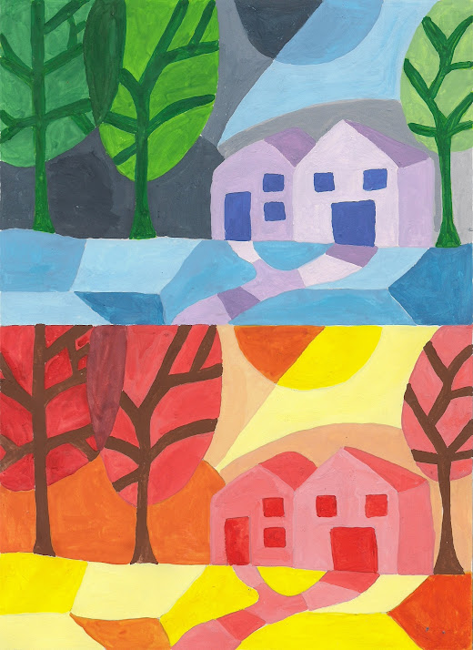 Imagin arte a illa da sabedor a - Paisaje con colores calidos ...