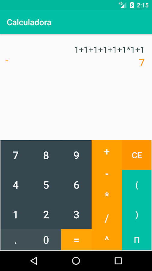 Calculadora- screenshot