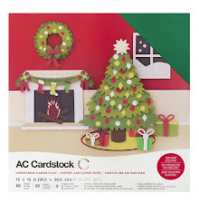 American Crafts Textured Cardstock Pack 12X12 60/Pkg - Christmas