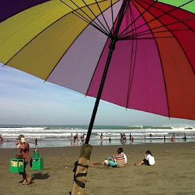 'rainbow' on Pangandaran beach by Krus Haryanto - Instagram & Mobile Other