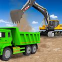 Sand Excavator Truck Driving Rescue Simulator game icon