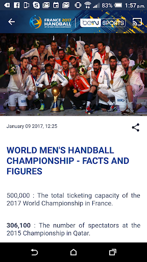 France 2017 Handball WC Live screenshot 3