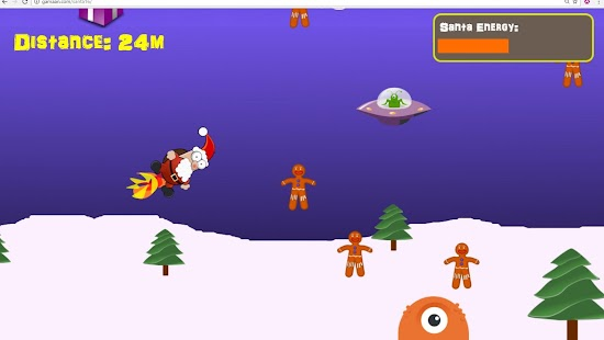 Christmas Games - Rocket Santa- screenshot thumbnail