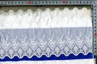 Photo: №733342-002綿レース:巾90mm