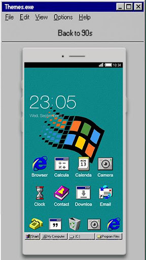 Windroid Theme for windows 95 PC Computer Launcher  screenshots 1
